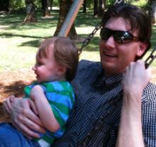 Casey Dinsmore and son