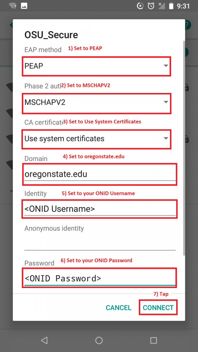 Configure OSU_Secure