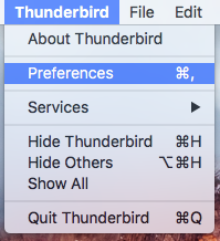Open Preferences